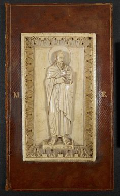 Detached binding containing an ivory plaque of St Paul, from the Siegburg Lectionary, 11th century, Harley MS 2889/1