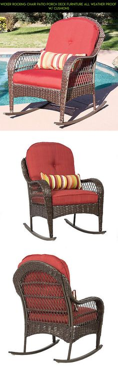 Wicker Rocking Chair Patio Porch Deck Furniture All Weather Proof  W/ Cushions #camera #drone #fpv #furniture #rocking #plans #shopping #chair #racing #kit #gadgets #technology #parts #tech #patio #products