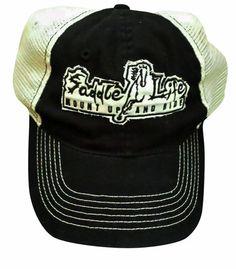 Black Soft Mesh Unstructured Cap w  Cream Patch Signature Series II Lo –  Saddle Life 9c257fb59f55