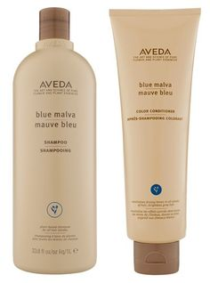 AVEDA Blue Malva Shampoo and Color Conditioner... designed to neutralize brassy tones in light shades of hair
