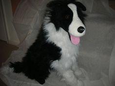 Border Collie Dog- Giant Stuffed plush Animal Melissa & Doug  #4868 - LIFE SIZE! #MELISSAANDDOUG