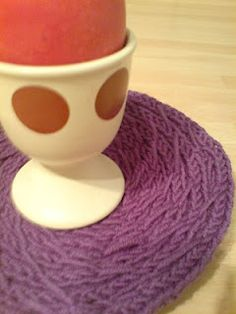 French Knitted Coaster