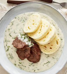 Czech Recipes, Ethnic Recipes, Hummus, Ham, Mashed Potatoes, Grilling, Food And Drink, Lunch, Treats