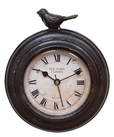 Love the old time look of this Magnet Clock w/Bird
