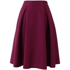 Midi skirts #2 by rabija on Polyvore featuring polyvore, fashion, clothing, skirts, bottoms, юбки, saias, pink, pink a line skirt and pleated a line skirt