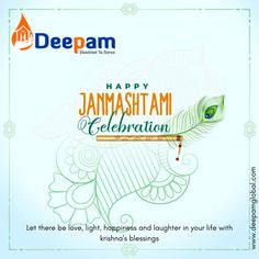 Let there be love, light, happiness and laughter in your life with krishna's blessings. Happy krishna janmashtami!  #janmashtami #krishna #harekrishna #jaishreekrishna #radheradhe #lordkrishna #krishnajanmashtami #spiritual #radhakrishna #dahihandi #shrikrishna #jsk #DeepamGlobal www.ddepamglobal.com Happy Janmashtami, Krishna Janmashtami, Let There Be Love, Let It Be, Jai Shree Krishna, Hare Krishna, Your Life, Blessings, Wish