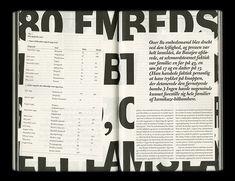 Stefan Thorsteinsson – Typographic layout for Lettre Internationale No. Editorial Design Inspiration, Editorial Layout, Graphic Design Inspiration, Typography Layout, Lettering, Typography Poster, Print Layout, Layout Design, Web Design