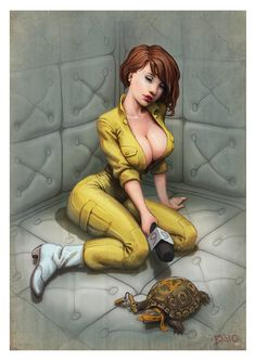 The real April O'neil by Ben Newman- and apparently she was a pornstar who was crazy and talked to turtles...