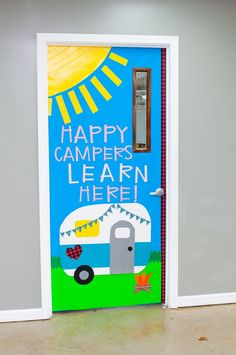 Classroom Door, Classroom Themes, Fun Crafts, Crafts For Kids, Duck Tape Crafts, Back To School Crafts, Camping Theme, Recycled Crafts, Happy Campers