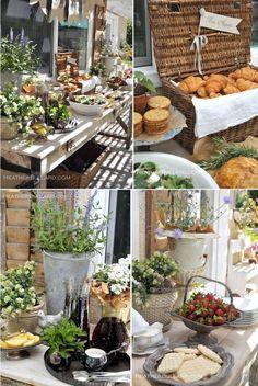 picnic style buffet