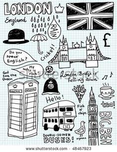 stock vector : London doodles