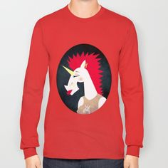 Punk Rock Unicorn Long Sleeve T-shirt