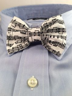 Music Print Bowtie / Bow Tie by 2Marys on Etsy, $10.00