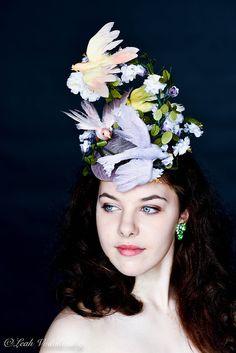 Fascinator Hat Royal Ascot Hat Bird by RubyandCordelias on Etsy
