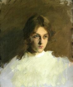 John Singer Sargent Portrait of Edith French - Handmade Oil Painting Reproduction on Canvas