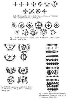 Croatian traditional tattoo symbols