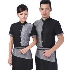 summer short sleeve ,high quality fabric,professional design Asian style hotel coffee bar waiter shirt short sleeve ,first 10 orders free apron wholesale will be much cheaper, Waiter Uniform, Uniform Shop, Hotel Uniform, Waitress Outfit, Restaurant Uniforms, Staff Uniforms, Uniform Design, Asian Style, Sleeves