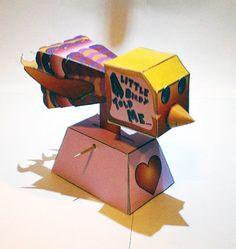 Little Birdie Paper Toy