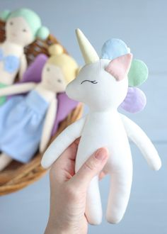 Unicorn doll sewing pattern  #etsy #pattern #sewingpattern #pdfpattern #sew #sewing #sewingproject #diy #unicorn #unicornpattern