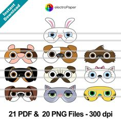 The Secret Life of Pets Paper Masks and Paper by ElectroPaper