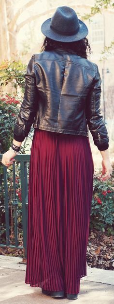 Forever 21 Oxblood Maxi Dress by SimplyHopeStyle