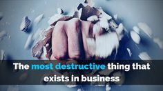 If you want to get results in your #business but for some reason you don't get them, there's a reason for that and there's a big chance it's this:  http://brandonline.michaelkidzinski.ws/the-most-destructive-thing-that-exists-in-business/