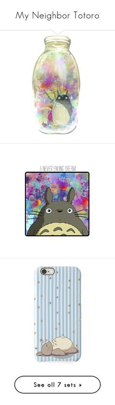"""My Neighbor Totoro"" by vitorialn ❤ liked on Polyvore featuring home, home decor, wall art, ship poster, movie posters, animal posters, animal wall art, movie wall art, art and anime"