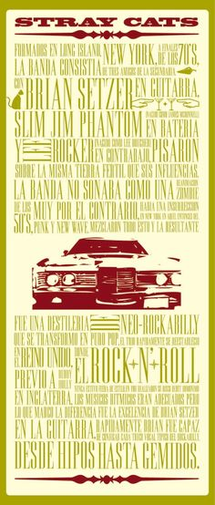 Rockabilly Poster - Stray Cats by ileana lapaz, via Behance