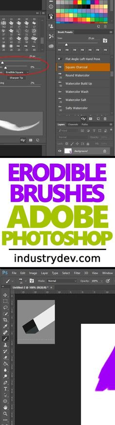 """Using Erodible Tips in Adobe Photoshop: If you're an illustrator and like to draw in Adobe Photoshop, you should definitely check out my latest post. In it, I cover the topic of """"Erodible Tips,"""" where you can wear down a pencil or a charcoal brush until it's absolutely perfectly aligned to your needs and then save it as a preset. This is a deep area of Photoshop that isn't covered widely, so be sure to read through the post in its entirety. It's really good stuff."""