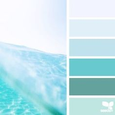 Very close to the color scheme I'm going for - beach/sea glass, mint green, spearmint, blue/green, and misty blue
