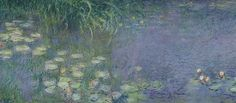 Impressionist;nympheas;matin;quadriptych;water;lily;lilies;waterlily Art Print featuring the painting Waterlilies Morning by Claude Monet