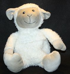 "Hot Hugs Plush Lamb Lovey Stuffed Animal Hot Pack Heating Pad 20"" Baby Soother"
