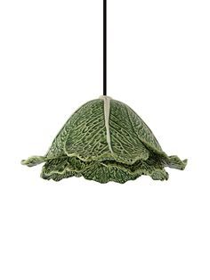 The Cabbage is an iconic reference of Bordallo Pinheiro's imaginary. The technical adaptation of the pieces to the decorative lightening segment preserves the characteristics and highlights its unique identity. Product with CE marking. Cold Porcelain, Porcelain Tile, Ce Marking, Green Dinnerware, Bathroom Chandelier, Pottery Making, Fine Linens, Arts And Crafts Movement, Pendant Lamp