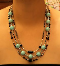 MultiStrand Turquoise Necklace