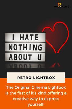 Retro Cinematic Light Box - #cinematic #light #retro - #HomeDecorQuotes Make Your Own Sign, How To Make, Cinema Sign, Home Decor Quotes, Retro, Modern Decor, Announcement, Wedding Decorations, Inspirational Quotes