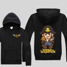 Cheap League of Legends camisola para homens Plus Size Q versão Gangplank pulôver