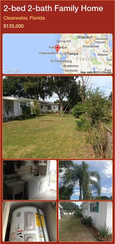 2-bed 2-bath Family Home in Clearwater, Florida ►$135,000 #PropertyForSaleFlorida http://florida-magic.com/properties/68526-family-home-for-sale-in-clearwater-florida-with-2-bedroom-2-bathroom