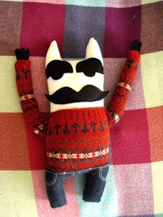 Mr. Whiskers stuf stuffed toys toys plush plushie by cronopia6