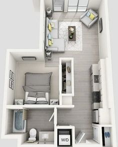 New Ideas Bedroom Layout Ideas Floor Plans Loft - Apartment floor plans - Studio Apartment Floor Plans, Studio Apartment Layout, Bedroom Floor Plans, Small Apartment Layout, Studio Layout, Small Apartment Plans, Studio Floor Plans, Small House Layout, Micro Apartment