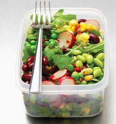 Six healthy vegetarian recipes for men - Green energy salad