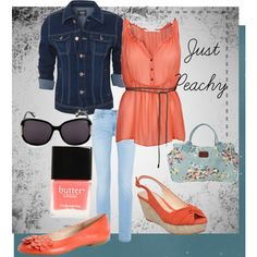 Just Peachy, created by elsiezap on Polyvore
