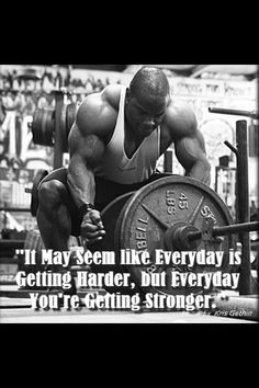 Keep getting stronger.
