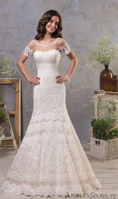 Courtesy of Amelia Sposa wedding dresses #weddinggowns
