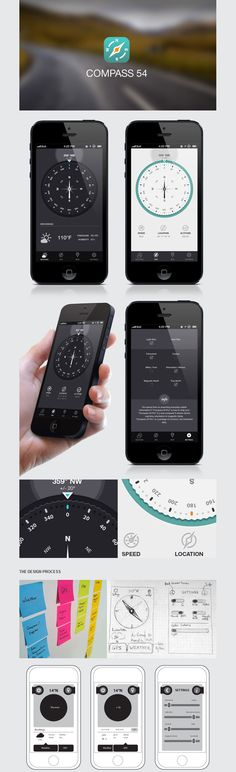 Compass - iPhone App Design #ui #app #ios