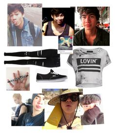 """CALUM"" by izzilindon ❤ liked on Polyvore featuring Miss Selfridge, Religion Clothing and Vans"