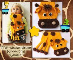 Giraffe, crochet, Schal, gehäkelt