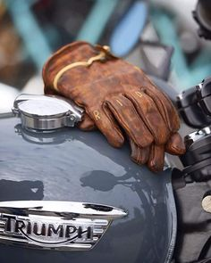 "Ever been told to ""man up""? Very few men ever ""man up"" and it's about time we do. I'm not talking about some testosterone-fueled call to a. Indian Motorcycles, Triumph Motorcycles, Triumph Motorbikes, Triumph Scrambler, Scrambler Motorcycle, Triumph Bonneville, Vintage Motorcycles, Bobber, Motorcycle Gloves"
