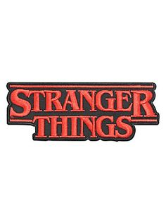 Officially licensed iron-on patch from the Netflix original series, Stranger Things, featuring an embroidered red & black logo design. Cute Patches, Pin And Patches, Iron On Patches, Jacket Patches, Velcro Patches, Stranger Things Patches, Stranger Things Logo, Non Plus Ultra, Jacket Pins