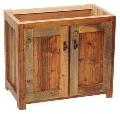 Rustic Wood Bathroom Vanity Base