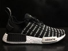 215ebf324 Spring Summer 2018 Factory Authentic Off White X Adidas NMD Black White  Sneaker